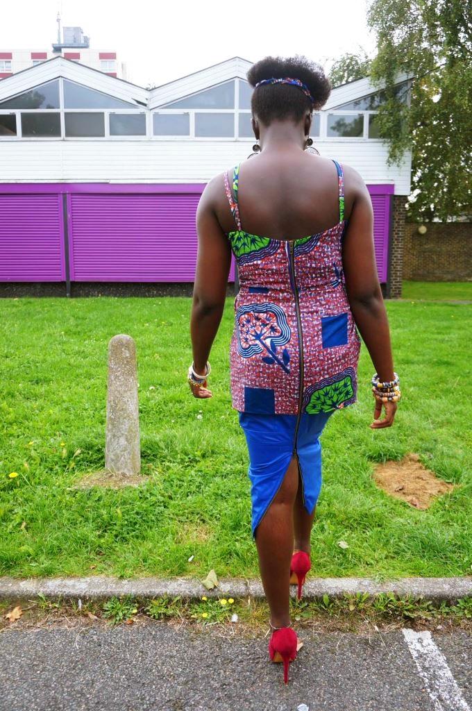 Criss cross blues- My African Print