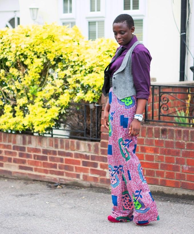 My African closet- Purple
